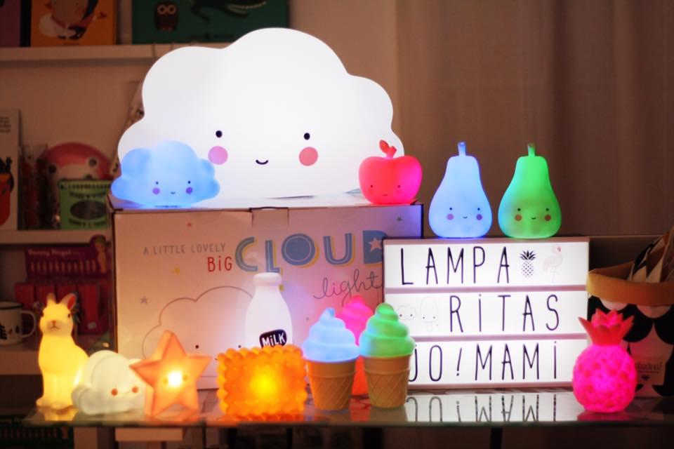 luces lamparitas nube helado pera manzana quitamiedos