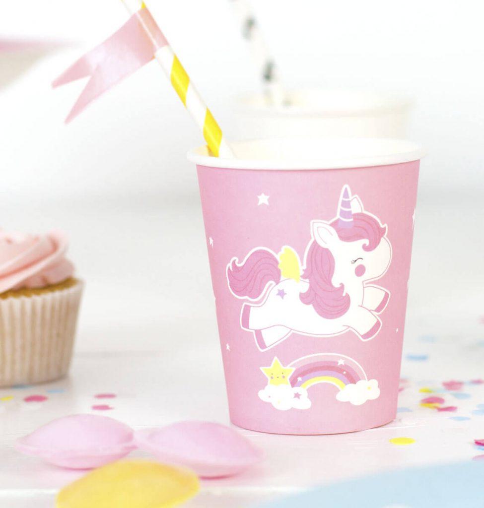 Vaso para fiestas de Unicornios