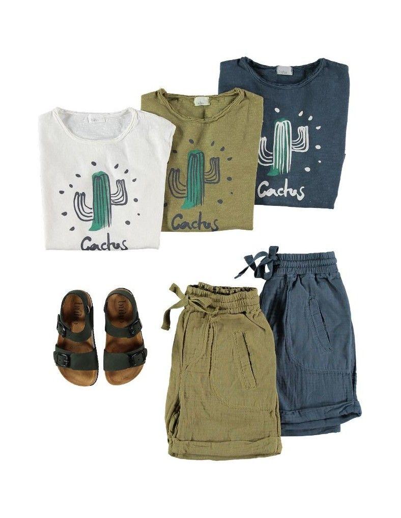 camiseta cactus para niños