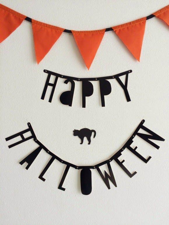 halloween word banner