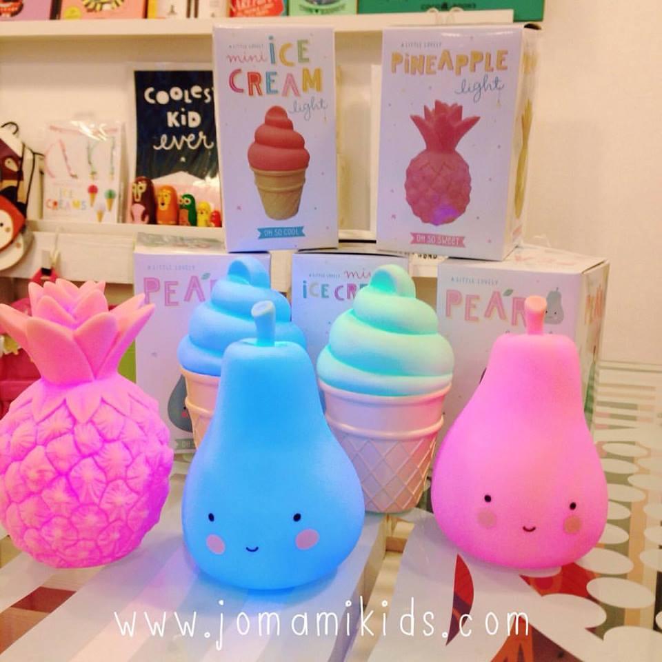 lamparitas pera piña helado