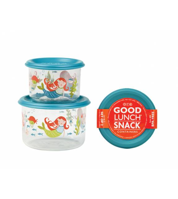 Isla the Mermaid Good Lunch Snack Containers Small Sugarbooger