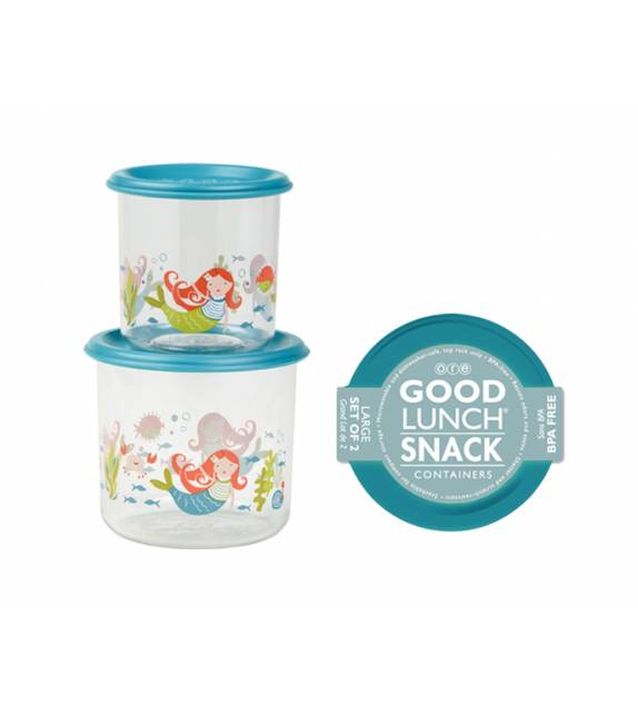 Isla the Mermaid Good Lunch Snack Containers Large Sugarbooger
