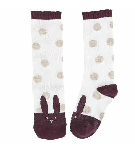 Socks Rabbit Burgundy Emile et Ida