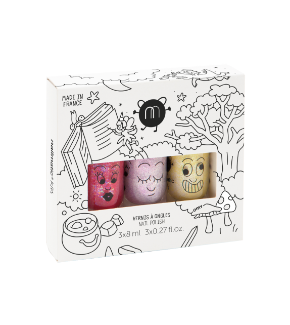 Pack 3 Esmaltes de uñas Magic Forest Nailmatic