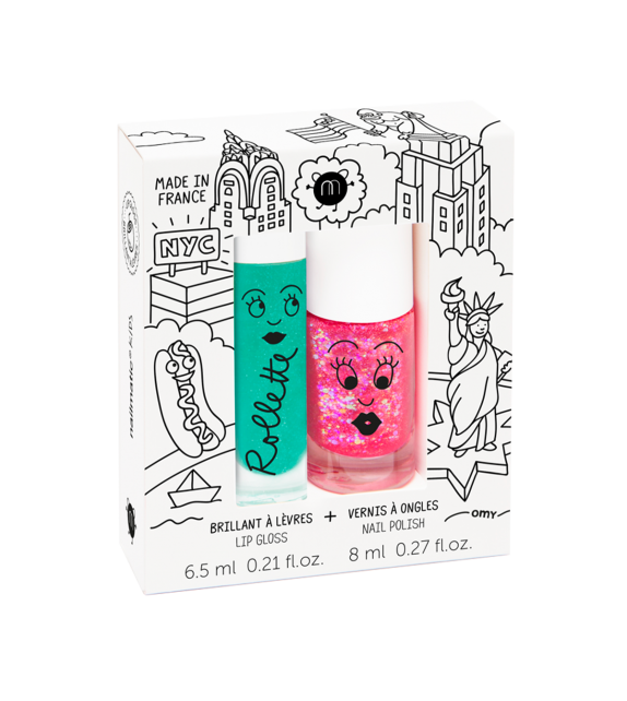 Duo Esmalte Brillo de Labios New York Nailmatic