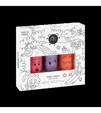 Pack 3 Esmaltes de uñas Jungle Nailmatic