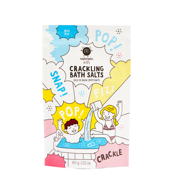 Blue Crackling Bath Salts Nailmatic