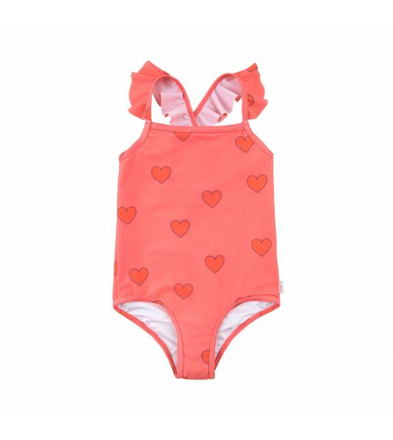 Hearts Frills Swimsuit TINYCOTTONS