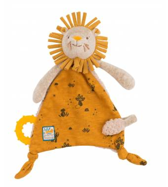 Lion Comforter with pacifier holder Baobab Moulin Roty