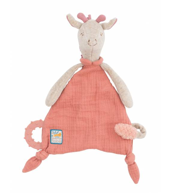 Giraffe Comforter with pacifier holder Baobab Moulin Roty