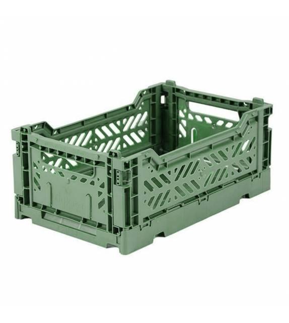 Folding Crate Minibox Almond Green Lillemor