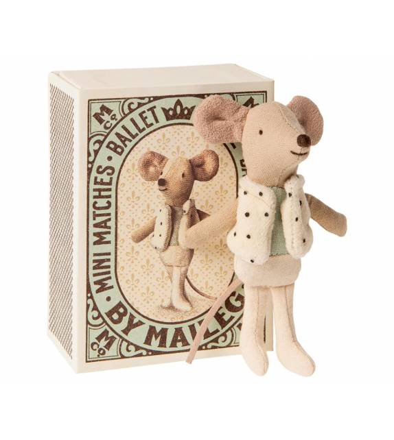 Dancer Mouse in Matchbox Maileg