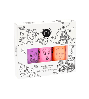 Paris 3 Nail Polish Set Nailmatic