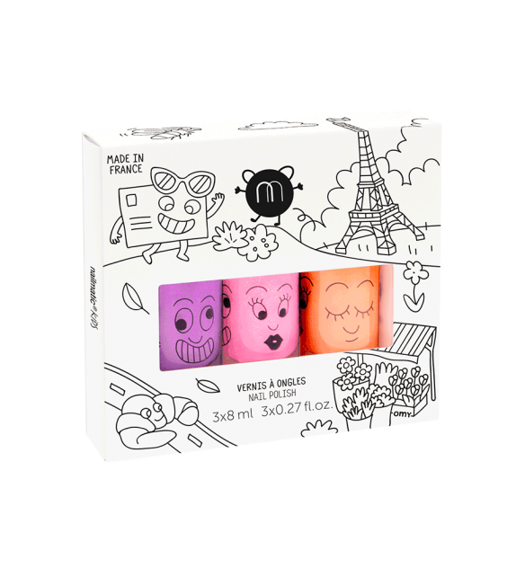Pack 3 Esmaltes de uñas Paris Nailmatic