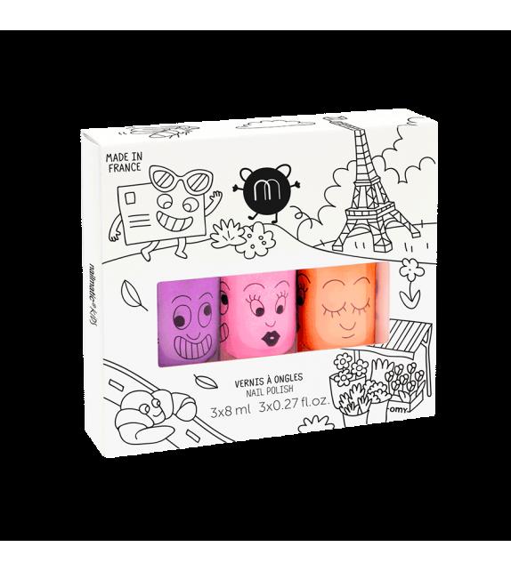 Pack 3 Esmaltes de uñas Paris Nailmatic