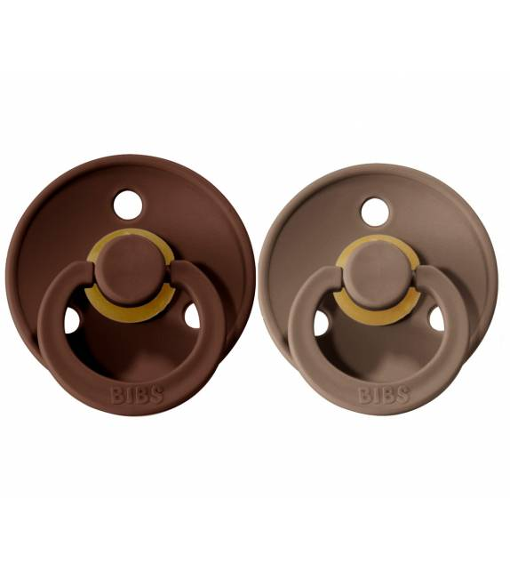 Pacifiers Bibs Colour Mocha/Dark Oak