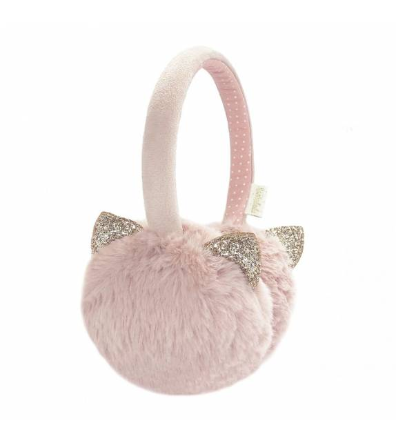 Clara Cat Earmuffs Pink Rockahula
