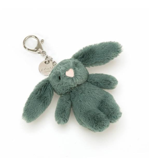 Bashful Forest Bunny Bag Charm Jellycat
