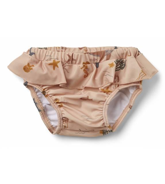 Elise Baby Swim Pants Sea Creature Rose Liewood
