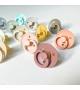 Pacifiers Bibs Colour White/Mint