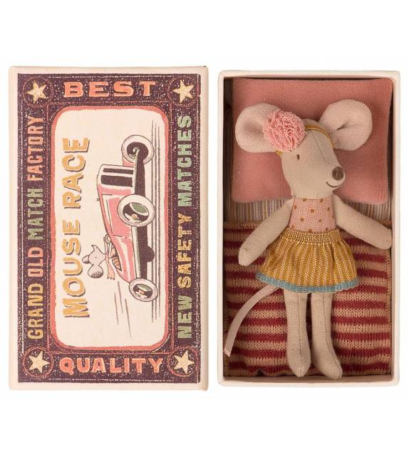 Little sister Mouse in box Maileg