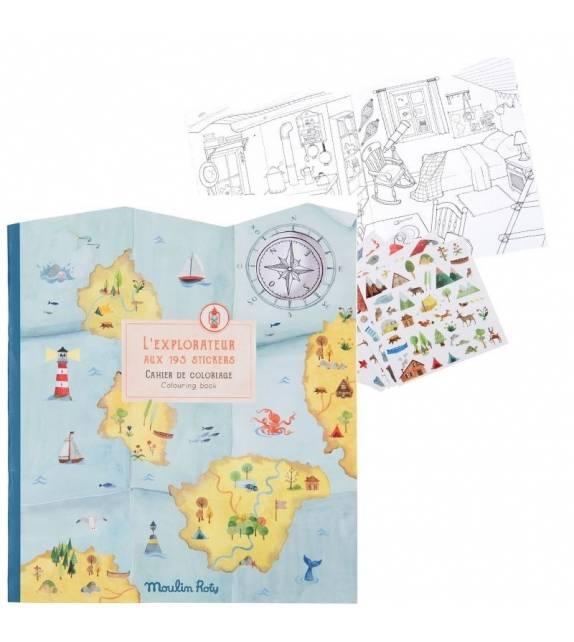 Sticker book Explorer Moulin Roty