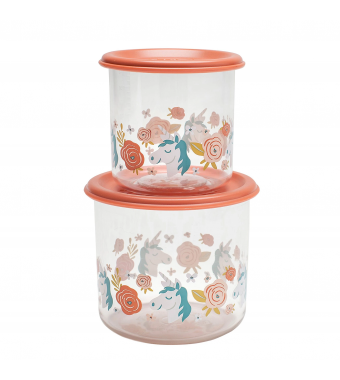 Unicorn Good Lunch Snack Containers Large Sugarbooger