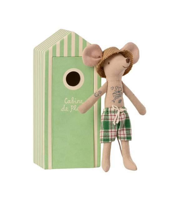 Dad Mice in Cabin de Plage Maileg