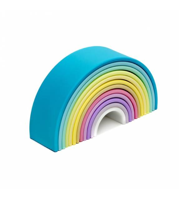 Big Rainbow Silicone Toy Pastel Colors Dëna