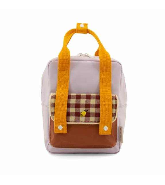 Small Backpack Gingham Chocolate Sticky Lemon
