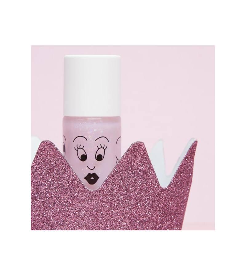 Esmalte de uñas rosa Polly para niños lavable al agua Nailmatic