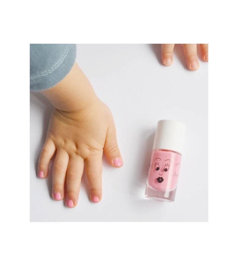 Esmalte de uñas rosa Bella para niños lavable al agua Nailmatic