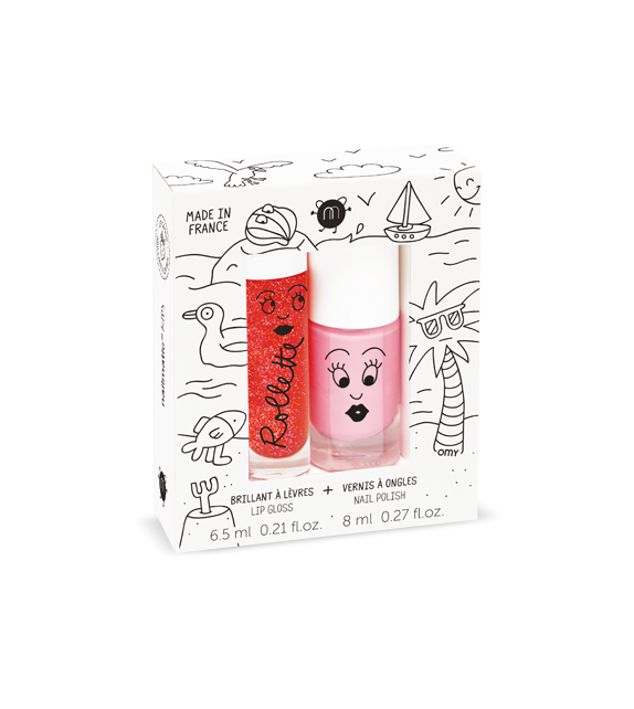 Duo Nail Polish Cookie Rollette Strawberry Nailmatic