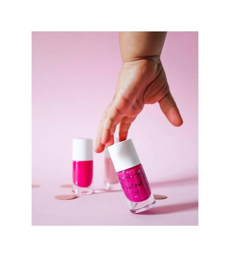 Esmalte de uñas rosa Sheepy para niños lavable al agua Nailmatic