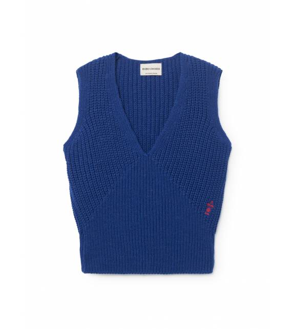 Blue Knitted Vest BOBO CHOSES