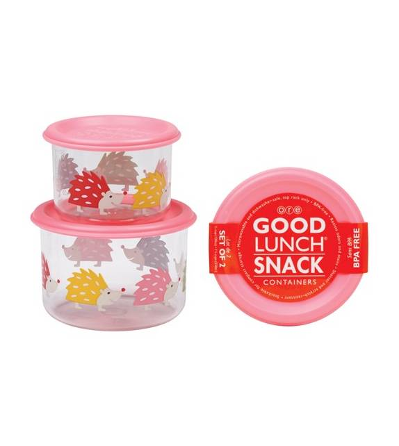 Hedgehog Good Lunch Snack Containers Small Sugarbooger