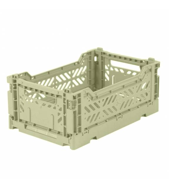 Folding Crate Minibox Lime Cream Lillemor