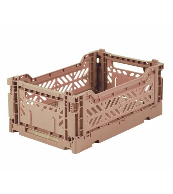 Folding Crate Minibox Warm Taupe Lillemor