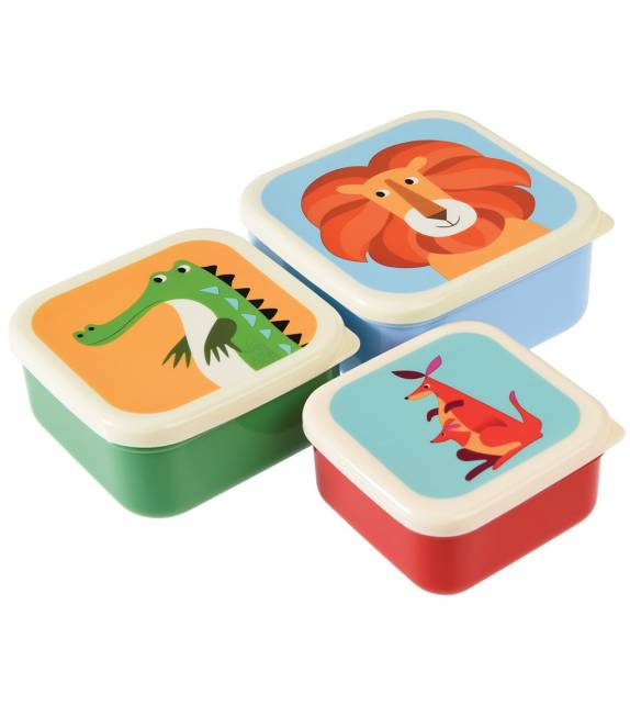 Set 3 cajas de almuerzo Animales